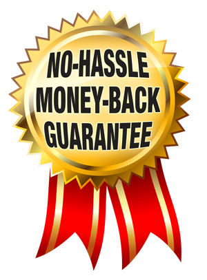 Everything we do  No hassle Money Back Guarantee